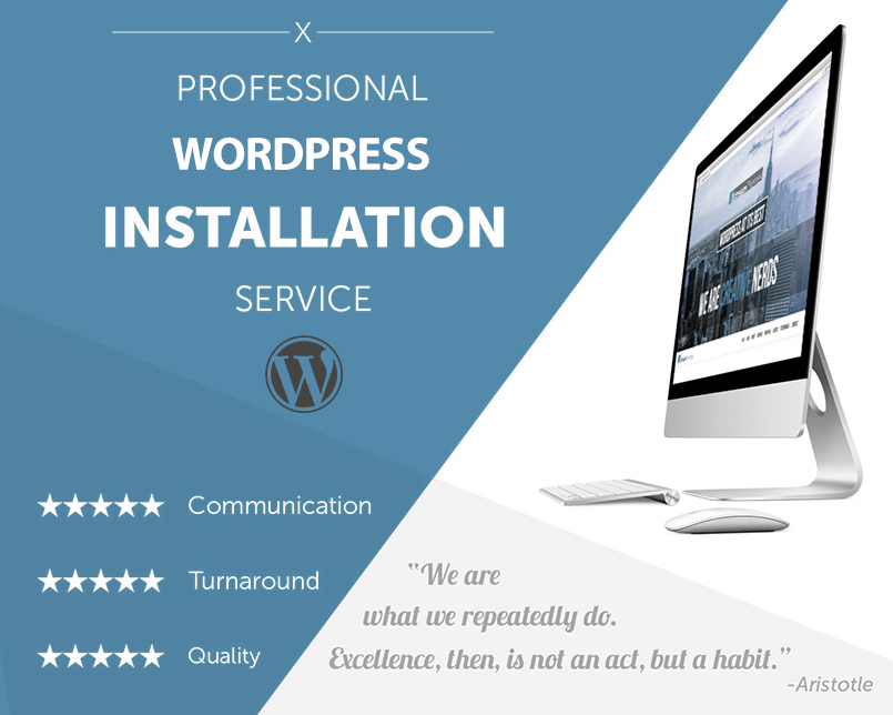 Wordpress blog installation service
