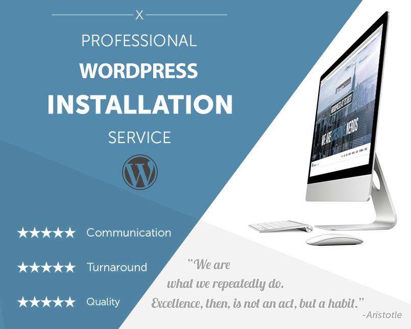 Wordpress blog installation service