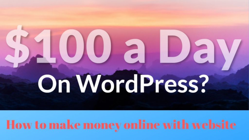 How to make money online with website