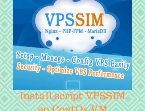 Install script VPSSIM on CentOs VM