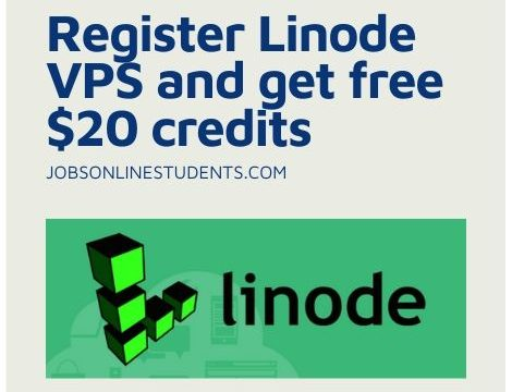 Register Linode VPS and get free $20 credits