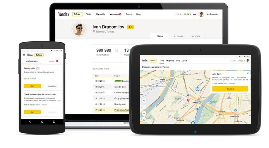 Online mini jobs on smartphone